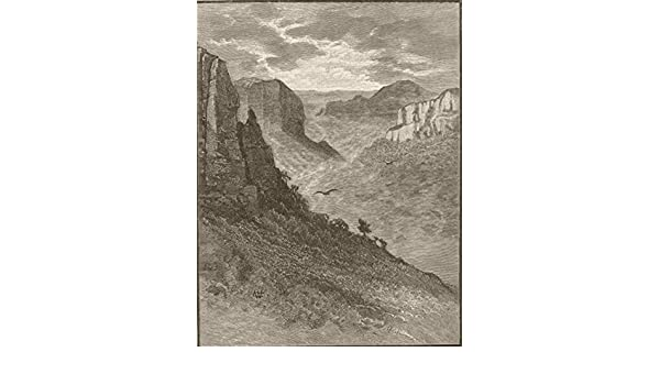 The Valley of the Grose Australia 1890 old antique print The Blue Mountains