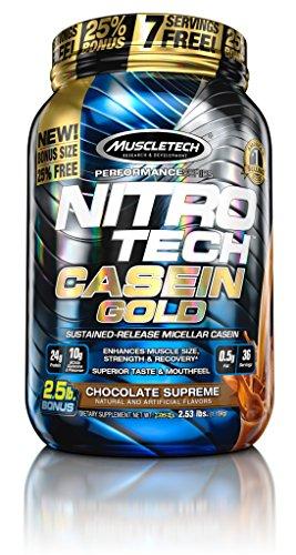 MuscleTech Nitro Tech Casein Gold 100% Protein Powder Cho...