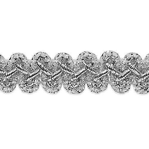 Expo IR7085MSL-25 25 yd of Emily 1/2'' Braid Trim, Metallic Silver by Expo International Inc.