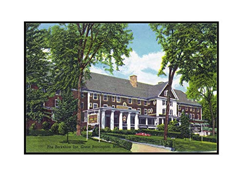 Great Barrington, Massachusetts - Exterior View of the Berkshire Inn (36x22 7/8 Framed Gallery Wrapped Stretched Canvas)