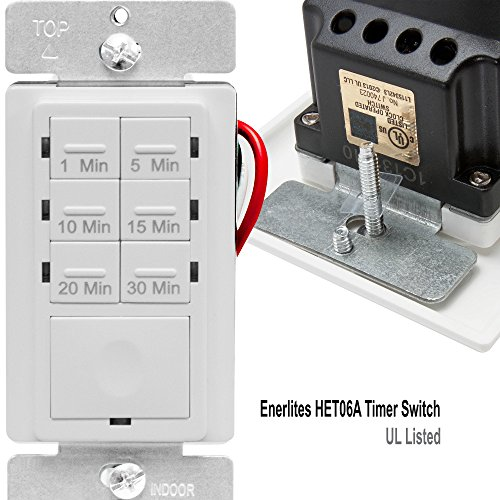 Enerlites Countdown Timer Switch For Bathroom Fans And