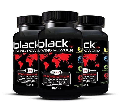 BlackMP Living Powder - SBO Probiotic, Fulvic and Humic Minerals (30 Servings) All Natural Formula Promotes Optimal Health for Women, Men, and Children.3 pack by BlackMP - Foods for Athletes
