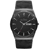 Skagen Men's 'Aktiv' Quartz Titanium and Stainless Steel Dress Watch, Color:Black (Model: SKW6006)