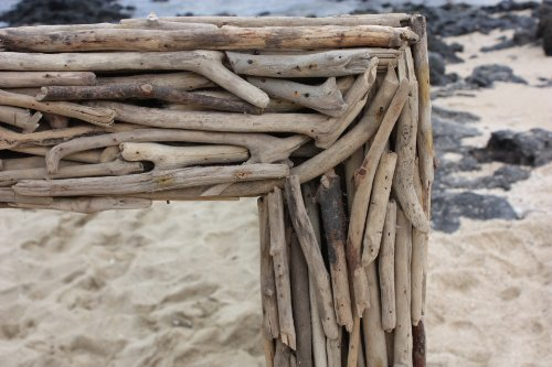"Tikimaster Driftwood Mirror 40"" X 24"" - Coastal Living   #lis31005c"