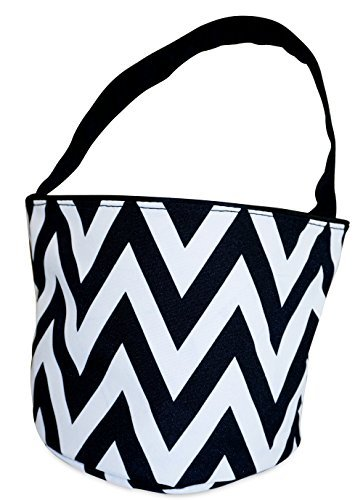 Ever Moda Chevron Caddy Basket Organizer (Black)