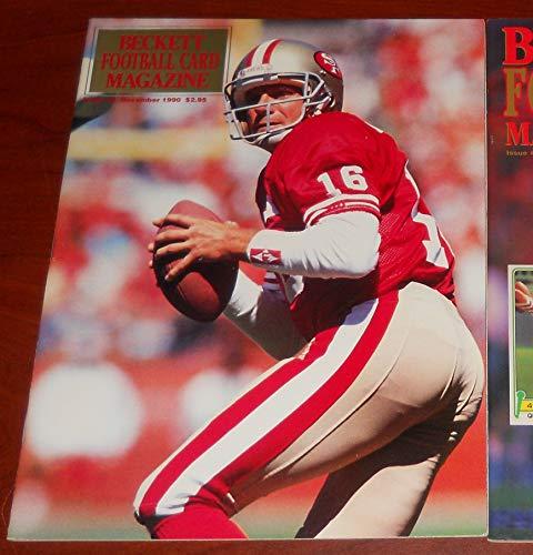 Beckett Cover Football (Beckett Football Card Magazine Dec 1990 (Front cover featuring Joe Montana, Vol. 2, No. 8 Issue #9))