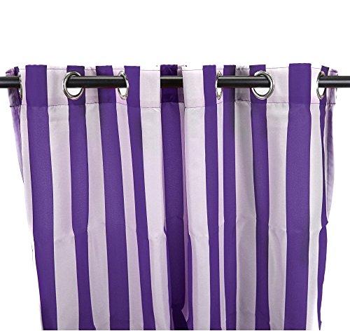 1 Piece 84 Inch Grape Color Gazebo Curtains Single Panel,
