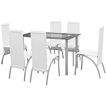 Tavolo Bianco E Sedie Marroni.Tidyard Tavolo E Sedie Moderno Cucina Set Sala Da Pranzo 5 Pezzi