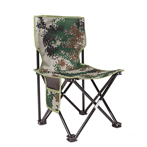 BubbyBear Small Folding Chair,Portable Lightweight Waterproof 600D Oxford Outdoor Folding Chair Camping Fishing Travel Hiking Picnic Beach Quickly Fold Chair Stool (Green) ()
