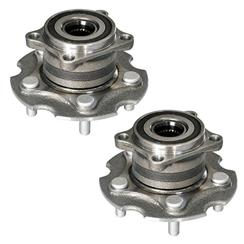 (DRIVESTAR 512374 Wheel Hubs & Bearings Assembly Rear Hub Set for 06-12 Toyota RAV4 4WD, 5 Bolt w/ABS, Set of 2)