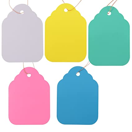 blue green yellow Huge luggage gift tags cards labels with strings red white