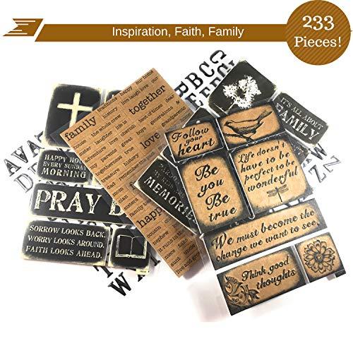 233 Piece! Inspirational, Faith, Family, Love & Devotional Sticker kit | Perfect for Family & Faith Journaling & Scrapbooks