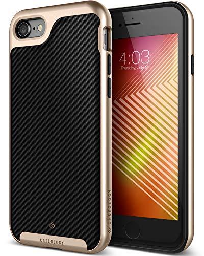 Caseology Envoy for iPhone 8 Case (2017) / iPhone 7 Case (2016) - Premium Leather - Carbon Fiber Black