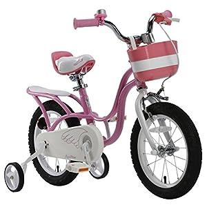 Royalbaby Little Swan Elegant Girl's Bike, 16 inch wheels, Pink and White