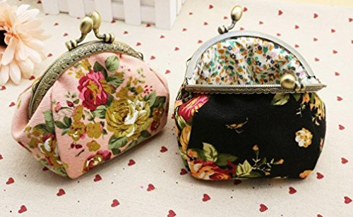 Hot Black Flower Sales Vintage Small New Clutch Lady Bag Purse Women Hasp Black Wallet Retro Baigood FFwSZr