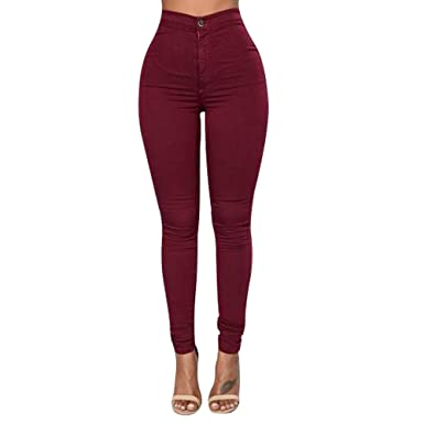 d05513f70 Nice Dia - Slim Sexy Fitness Women Pants Pencil Pant Stretch Legging Jean  Tights Hip Push Up Skinny Trousers  Amazon.co.uk  Clothing