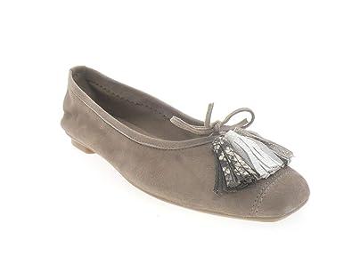 chaussures authentiques 100% d'origine comment acheter Reqins Ballerines Harmony Pompon Peau Taupe: Amazon.fr ...