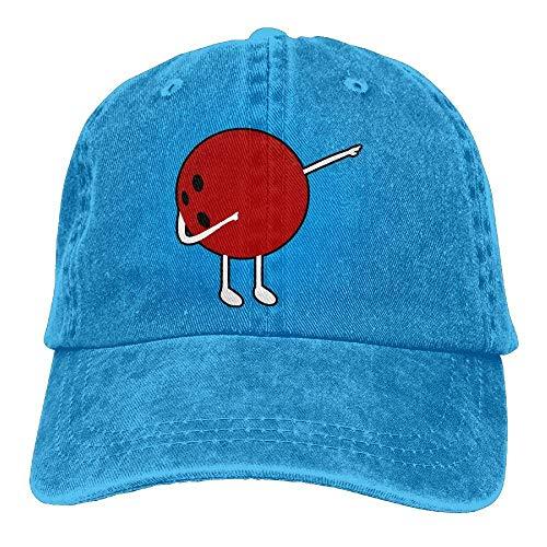 (Adjustable Yarn-Dyed Denim Baseball Caps Dabbing Bowling Ball Snapback Cap)