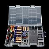 AAA AA C D 9V Battery Holder Hard Plastic Case Storage Box