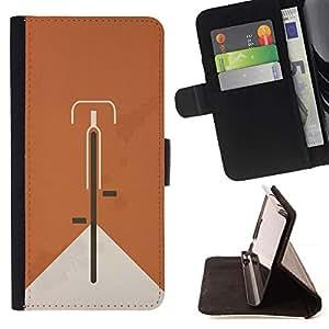 For Apple iPhone 5C Case , Bicicleta Naranja Hipster minimalista Alternativa- la tarjeta de Crédito Slots PU Funda de cuero Monedero caso cubierta de piel
