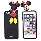 iPhone 5 Minnie Case,iPhone 5S Silicone Case,3D Cute Lovely Cartoon Case Animal Figure Minnie Mouse Soft Silicone Gel Rubber Case Cover Skin for Apple iPhone 5 5S (Hide and Seek Minnie Mouse)