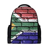MUOOUM Flag Of The South Africa Wall Polyester Backpack School Book Bag Travel Daypack