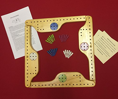 Pegs and Jokers Solid Wood 4 Player Game