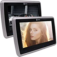 Eincar Dual 10.1 inch Car Headrest DVD Player with 1024 x 600 High Resolution LCD screen Touch Keys Support 1080P videos Dual Channel IR Headphones(Sold Separately)