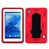 Alcatel OneTouch POP 7 P310 Case, Premium Durable Hard&Soft Rugged Shell Hybrid Protective Phone Case Cover with Built in Kickstand For Alcatel OneTouch POP 7 P310【Storm Buy】 (Red)