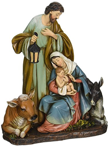 Roman Josephs Studio Slim Profile Holy Family with Barn Animals Figurine, 7.5-Inch