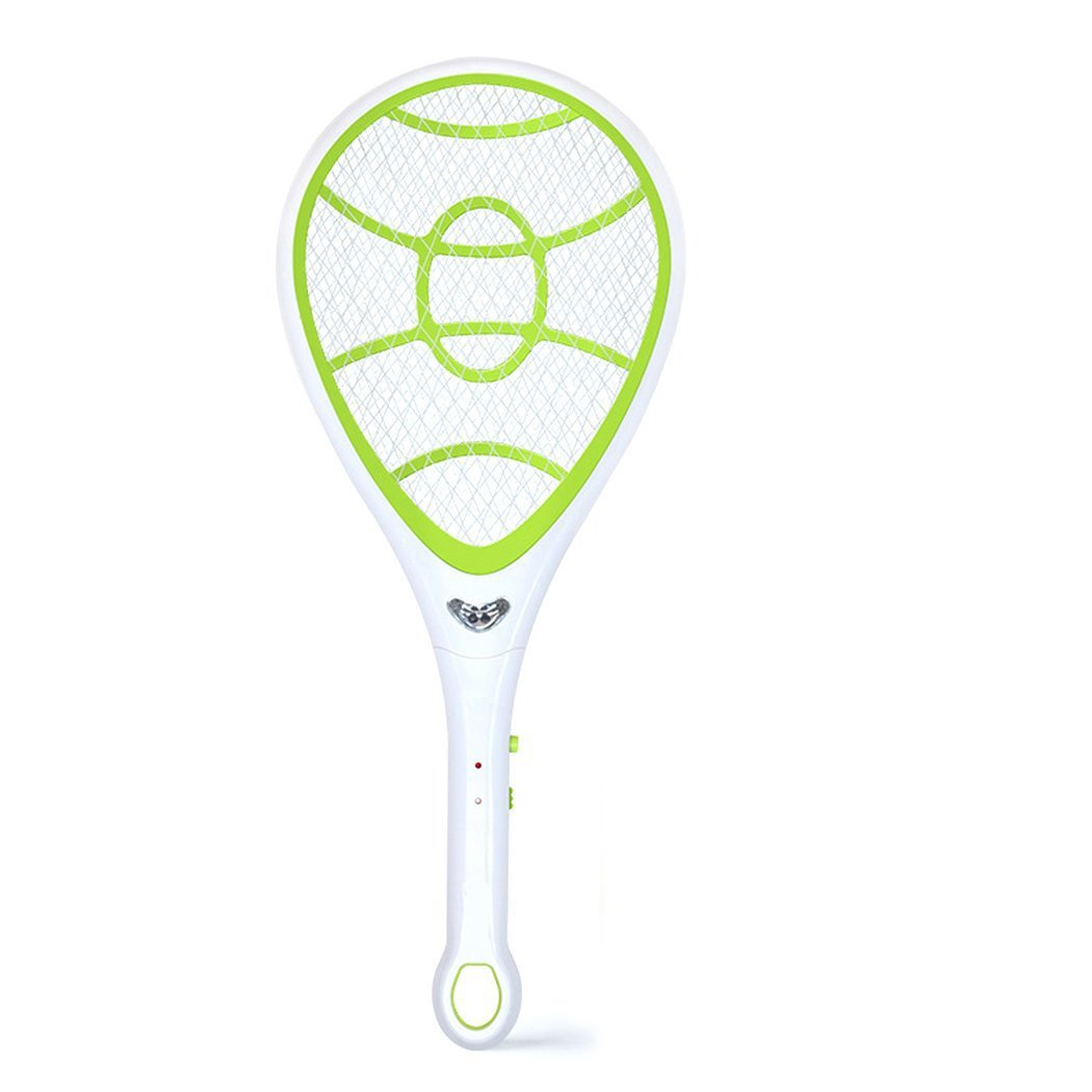 EgoEra® Electric Rechargeable 1600mah Handheld Mosquito Zapper, Wasp Fly Pest Bug Insect Killer Swatter Racket with LED Light E-TOP