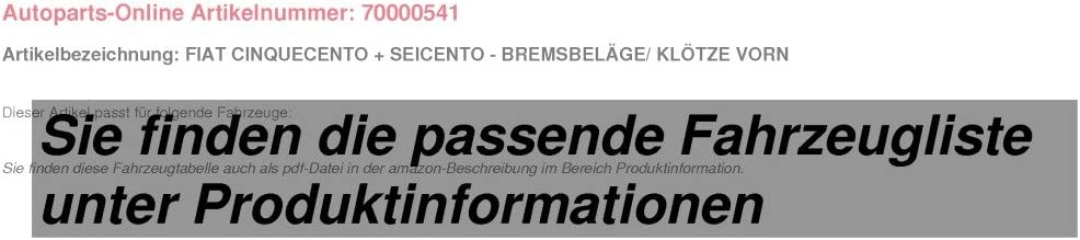 Bremsbel/äge//Kl/ötze vorne