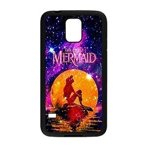LeonardCustom- The Little Mermaid Princess Ariel Protective Hard Rubber Coated Cover Case for Samsung Galaxy S5 -LCS5U347