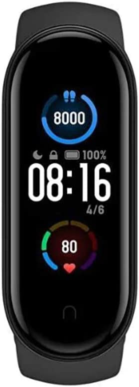 Xiaomi Band 5 Smart Fitness Bracelet Heart Rate Monitor, Pulsera Deportiva Resistente al Agua, 2020 última Pantalla AMOLED a Color Bluetooth 5.0, Negro, Mi Band 5, Negro