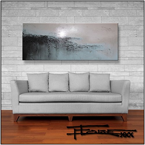 Eloise World Studio - ELOISExxx Abstract Modern Canvas Painting Limited Edition Giclee Contemporary Wall Art Framed 60 x 24 x 1.5 inch Ready to hang -