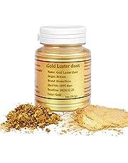 HomeHere Gold Luster Dust Edible Cake Gold Dust, 1oz