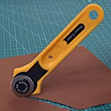28MM Rotary Roller Cutter Cut Fabric Leather Vinyl Paper clothes Craft Patchwork,Rotary Cutter 28mm Fabric Paper Vinyl Circular Cut Blade Patchwork Leather Craft Cutting Knife