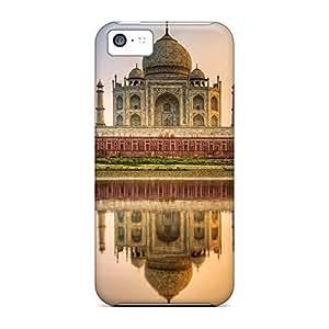 Fashion phone cover case New Arrival Slim iphone 5C - taj mahal india hdr