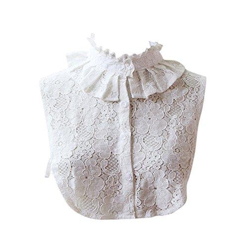 High Neck Collar - Daxin Women's Cotton Detachable Faux Fake Lapel Shirt Collar Necklace Removable Choker
