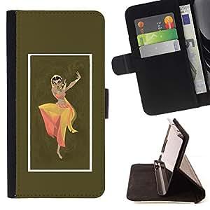 Momo Phone Case / Flip Funda de Cuero Case Cover - Indian Vestido Mujer Danza Vestimenta Pose sesión - MOTOROLA MOTO X PLAY XT1562