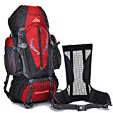 Fengtu Large External Frame Backpacks 80L+ 5L Backpacks For Men Women Hiking Camping Large Backpacks Profession Waterproof Sports Bags Package