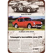 1968 Triumph GT6 Vintage Look Reproduction Metal Tin Sign 7X10 Inches