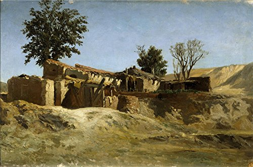 Turkish Tile Apparel (Oil Painting 'Haes Carlos De Tile Factories On Principe Pio Hill Ca. 1872 ' Printing On High Quality Polyster Canvas , 30 X 46 Inch / 76 X 116 Cm)