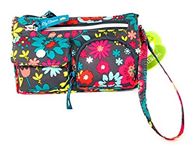 Floral Purse Lily Bloom Playful Garden Wristlet Wallet Purse With Strap
