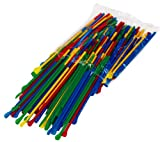 Bag of 200 Spoon Straws, Multi Colored for Sno Cones or Shaved Ice