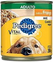 Ração Úmida Para Cachorros Pedigree Lata Patê de Frango Adultos 280g