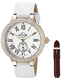 GV2 by Gevril Women's 9126 Astor Enamel Analog Display Quartz White Watch