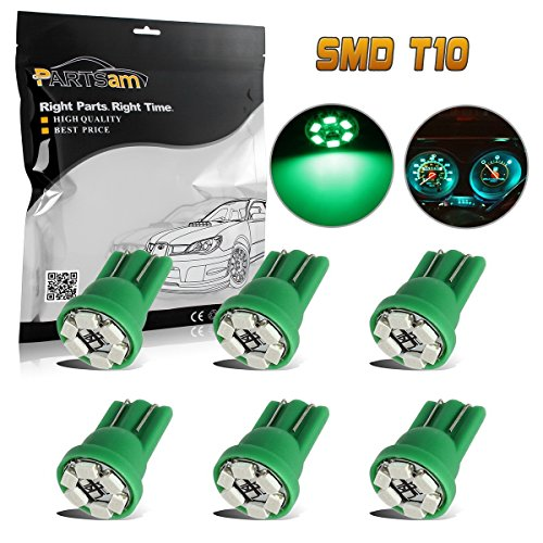Green Estate Royal (Partsam 6x T10 Wedge Green Speedometer Instrument Gauge Cluster LED Light Bulbs 158 194)