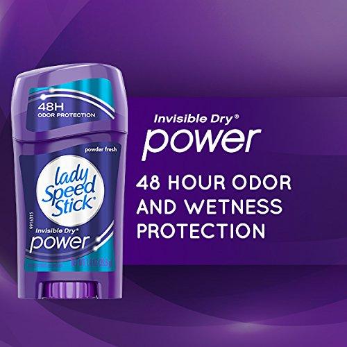 Lady Speed Stick Antiperspirant Deodorant, Power, Powder Fresh -2.3 oz (6 pack) by Lady Speed Stick (Image #2)