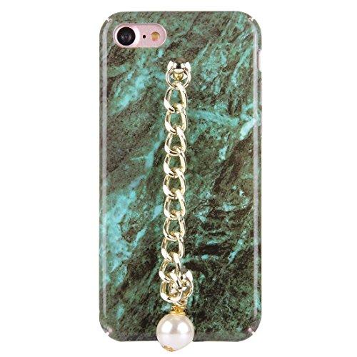 Retro Marmor Muster Kette Perle Anhänger PC Schutzhülle für iPhone 7 by diebelleu